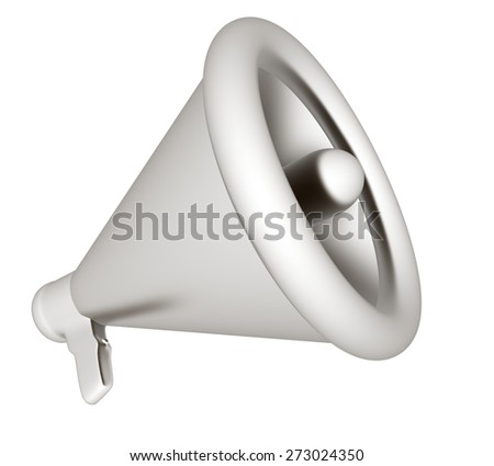 Loudspeaker as announcement icon. Illustration on white  - stock photo