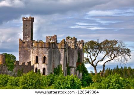 Lough Key castle Roscommon River Shannon - stock photo