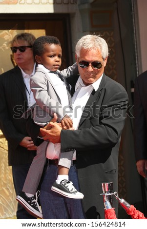 Louis Bardo Bullock and John Bullock at the Sandra Bullock Hand And Footprint Ceremony, Chinese Theater, Hollywood, CA 09-25-13