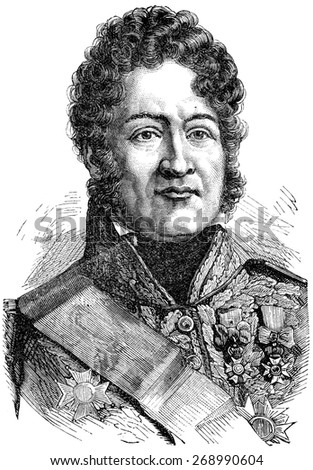 Louis Philippe I, vintage engraved illustration. History of France  1885.
