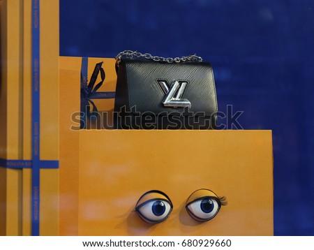Louis Vuitton bag. Ukraine, Kiev - July 2, 2017