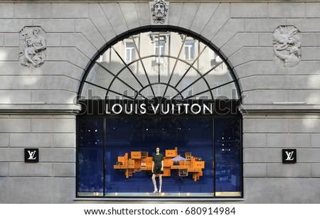 Louis Vuitton store. Ukraine, Kiev - July 2, 2017