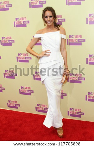 Louise Roe at the 2012 Video Music Awards Arrivals, Staples Center, Los Angeles, CA 09-06-12 - stock photo