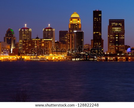 Louisville, Kentucky skyline - stock photo