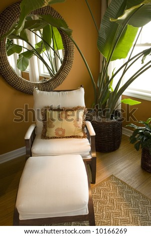 Lounge area with modern decor. - stock photo