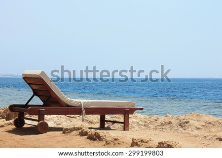 lounger on the beach