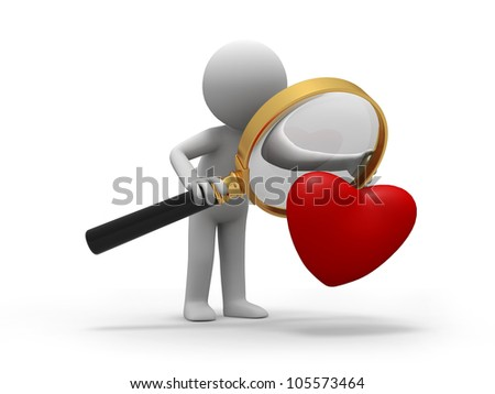 love/A person when looking at a heart