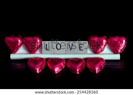 Love and Chocolate - stock photo