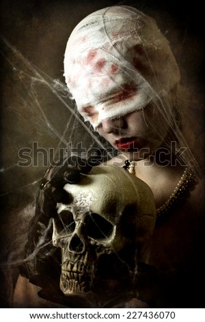 love and death - stock photo