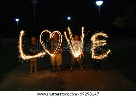 love and light - stock photo