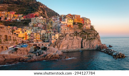 Love at first sight : Manarola , Cinque Terre, Italy. rated the 3rd most beautuful place in the world.