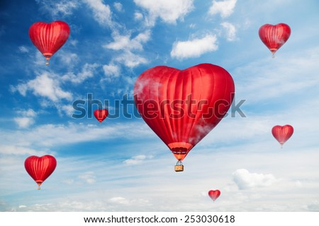Love balloons  - stock photo
