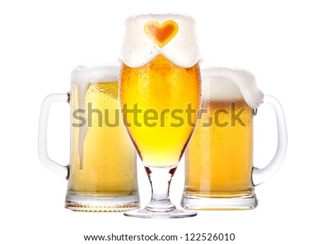 love beer concept isolated on a white background