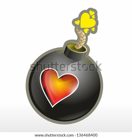 love bomb - stock photo