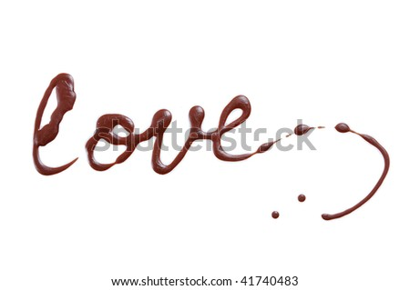Love chocolate - stock photo