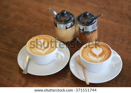 LOVE COFFEE LATTE ART for Valentine and any Occasion - stock photo
