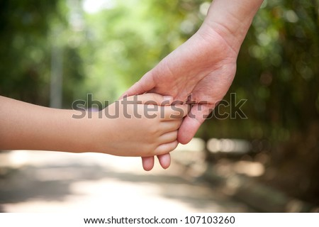 love concept/holding your hand - stock photo