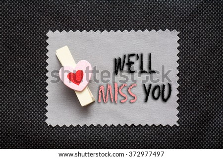 Missing You Text Symbol