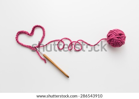 Love Crochet - stock photo