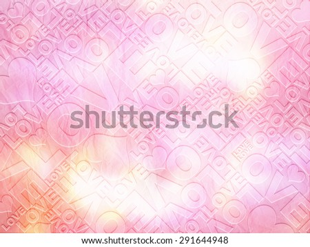 Love delicate Valentine's day typographic texture - stock photo