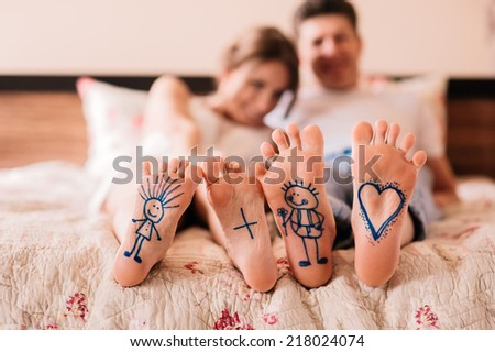love feet foot - stock photo