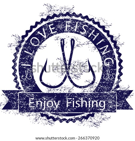 Love fishing - stock photo