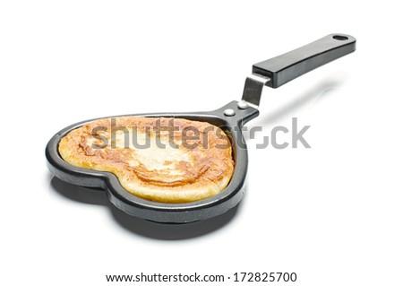 Love food baking isolated - stock photo