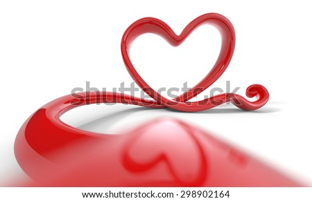 love form on white background