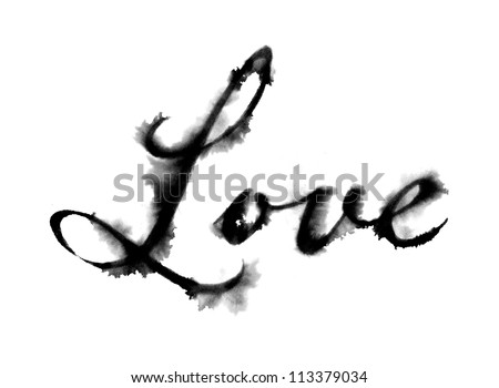 Love (Hand Drawn) - stock photo