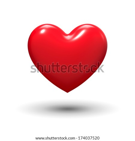 Love Heart - stock photo