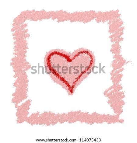 Love heart abstract painting