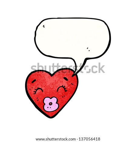 love heart cartoon character