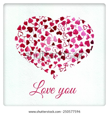 Love heart floral heart gift card 250577596 shutterstock love heart floral heart gift card valentines card love you card negle Gallery