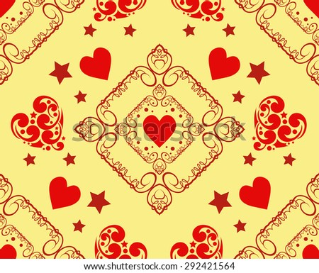 Love hearts. Modern wallpaper background for Your design. Wedding background with heart. Template for design albums, greeting cards, invitations, Web pages, wallpapers for wall.