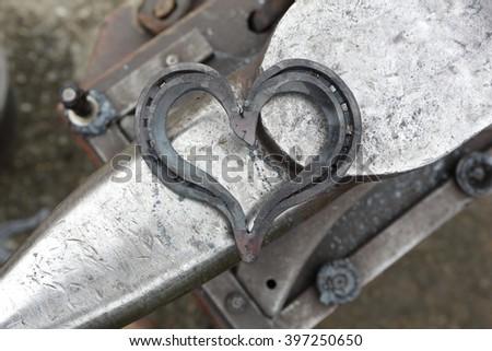 love horseshoe - stock photo