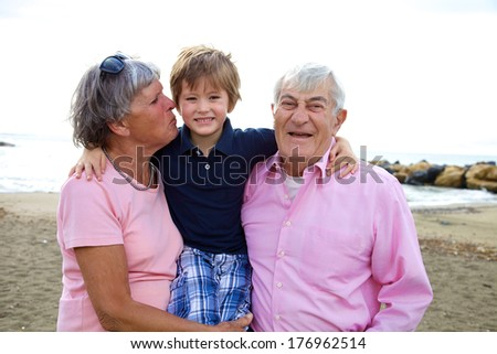 Love in family great relationship between different ages - stock photo