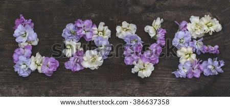 Love in flowers - stock photo