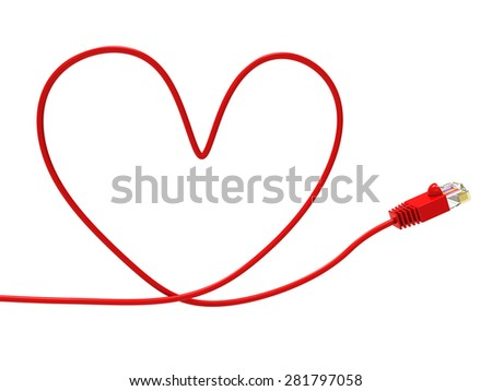 Love Internet Meaning World Wide Web And Valentine Day - stock photo