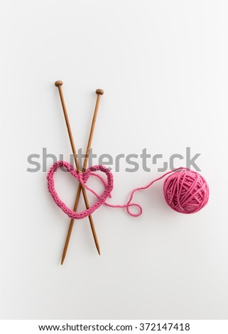 Love Knitting - stock photo