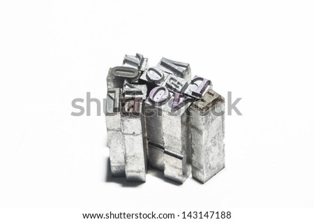 Love, lead type, this means search for love or memories. - stock photo