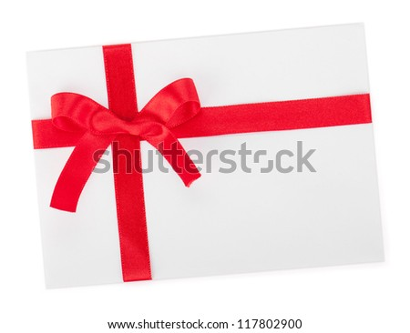 Love letter. Isolated on white background - stock photo