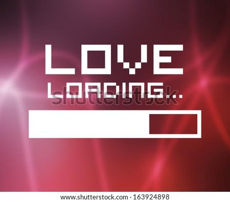 Love Loading Screen - stock photo