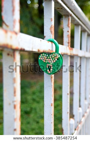 Love lock - stock photo