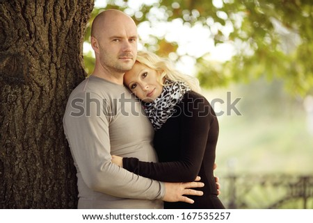 Love man and woman on nature