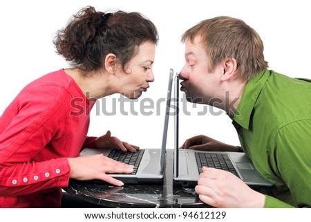 Love on the Internet - stock photo