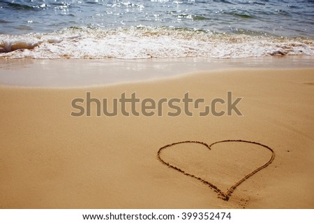 love on the sand