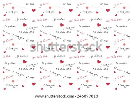 love pattern - stock photo