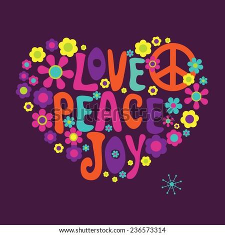 Love peace joy - stock photo