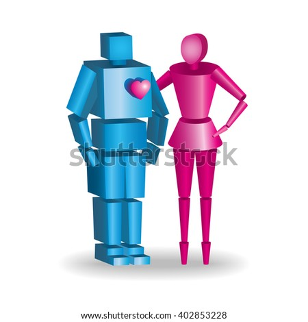 Love people 3d icons.  - stock photo