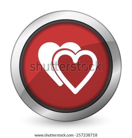 love red icon sign hearts symbol  - stock photo